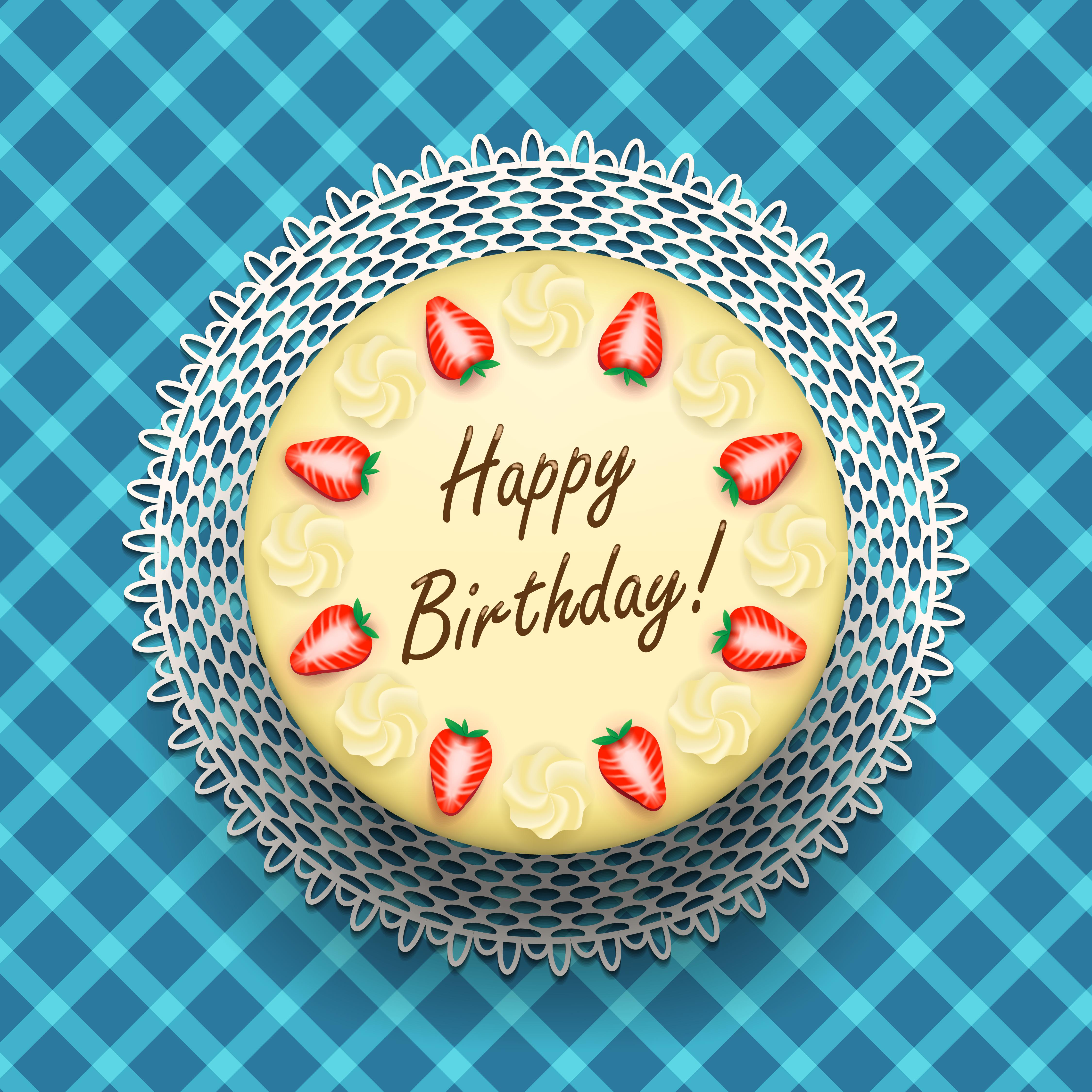 Cheese Birthday Cake With Strawberries