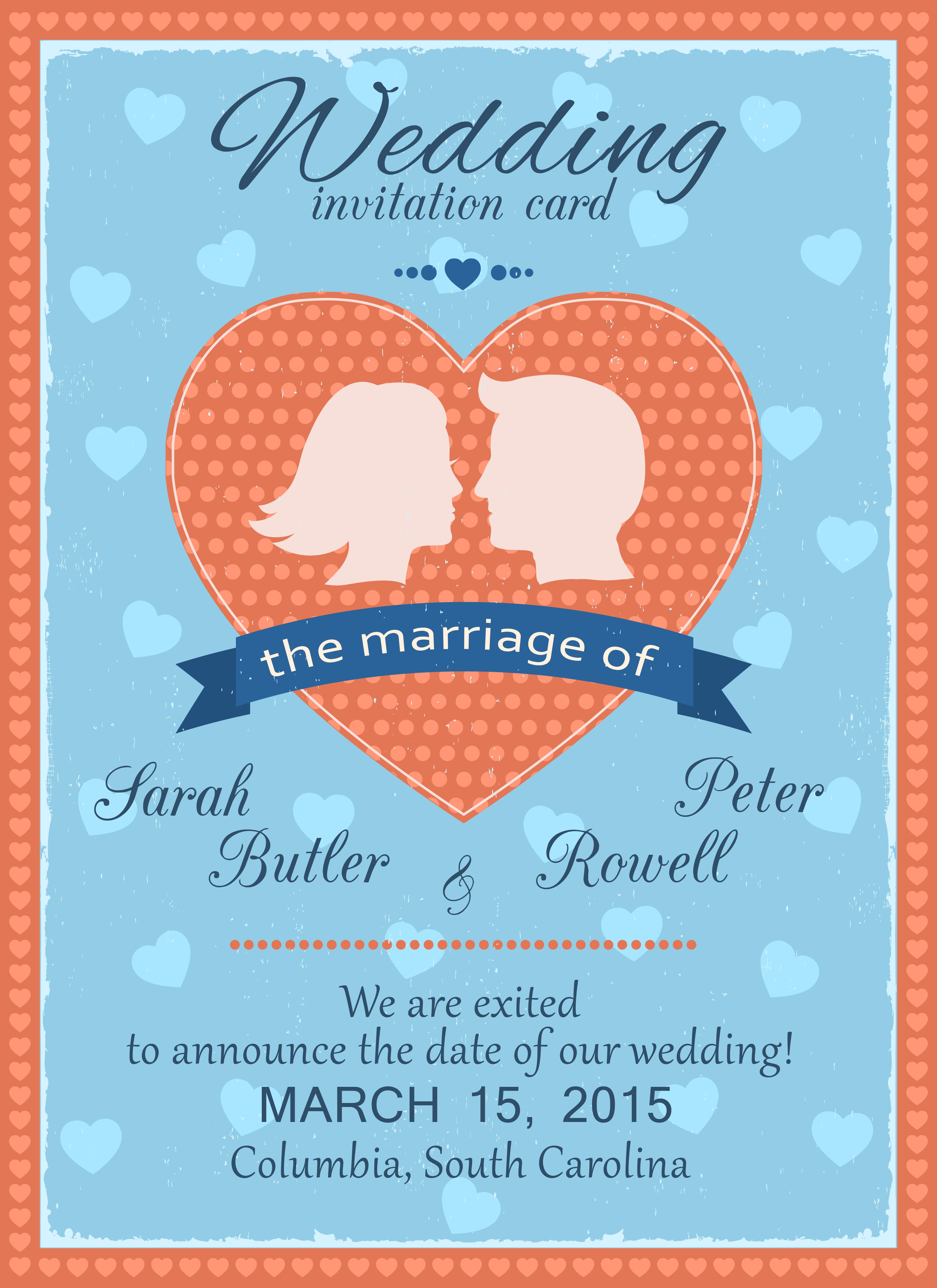 wedding invitation card  download free vectors clipart