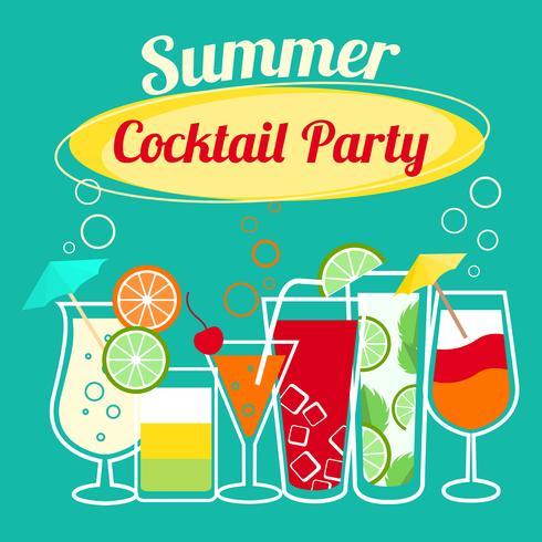 Plantilla de fiesta de cócteles de verano