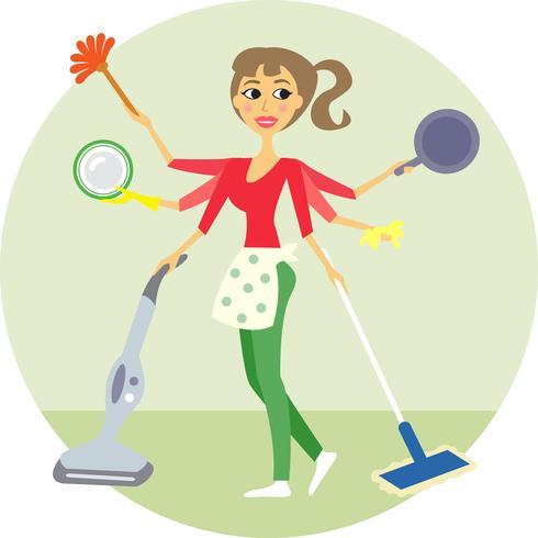 housewife vector
