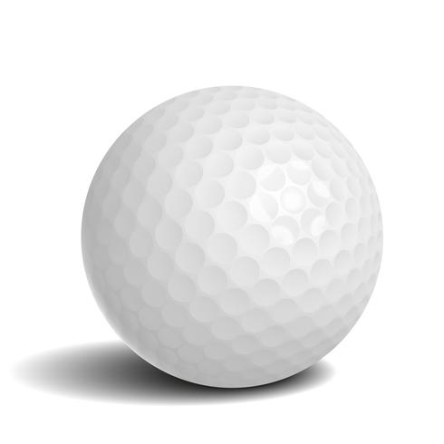 Golf ball with shadow vector