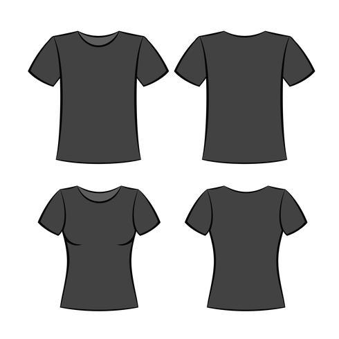 camiseta negra vector