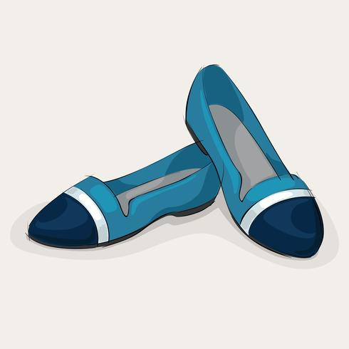 Blaue Ballerinas