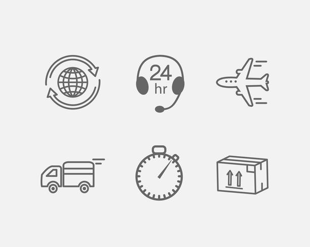 logistisk ikon vektor
