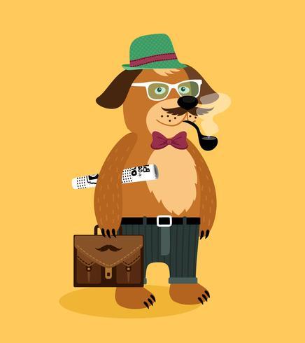 Hipster nerd cachorro perro