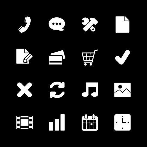Lo shopping online set di icone, contrasto bianco vettore
