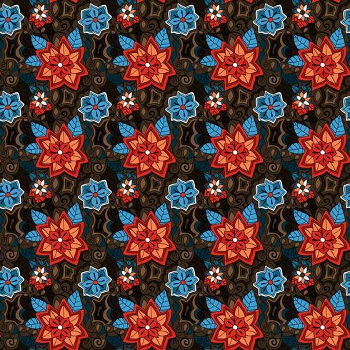 sömlösa färgglada sommarblommönster