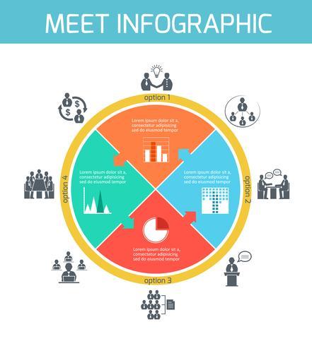 Geschäftstreffen Infografiken