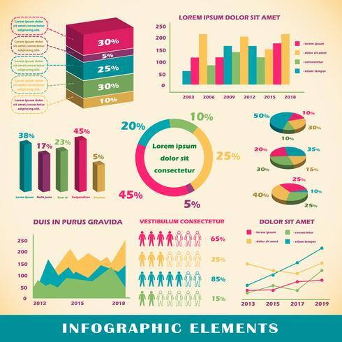 Conjunto de elementos infográficos. vector