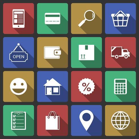 Conjunto de ícones de compras de internet