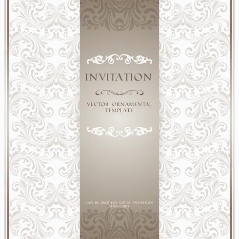 Carta di invito ornamentale beige chiaro