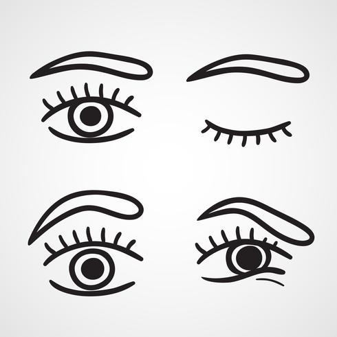 Desenho de ícones de olhos vetor
