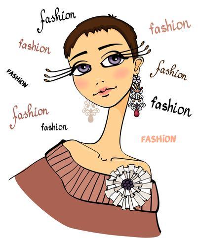 Ritratto di donna bella moda