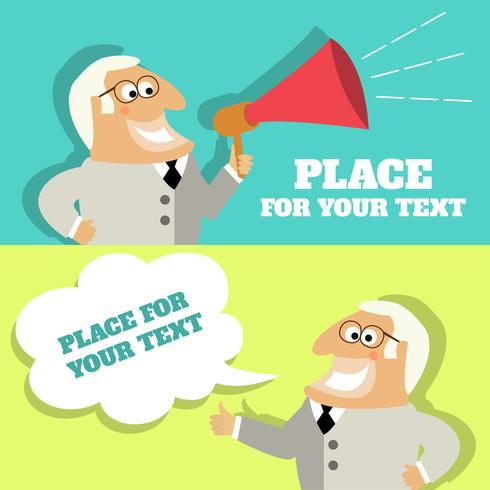 Boss speech bubble with place for text