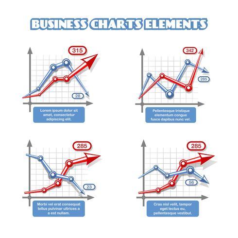 Business graph element för infographics