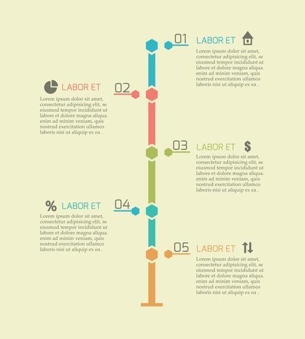 Éléments de graphique de chronologie d'infographie