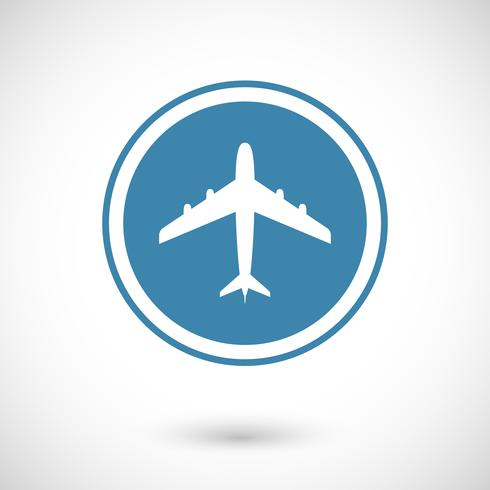 Plane and travel icon vector