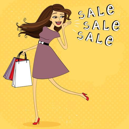 Fasion försäljning tjej