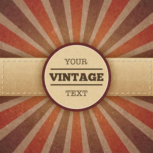 Cartaz de promo vintage sunburst vetor
