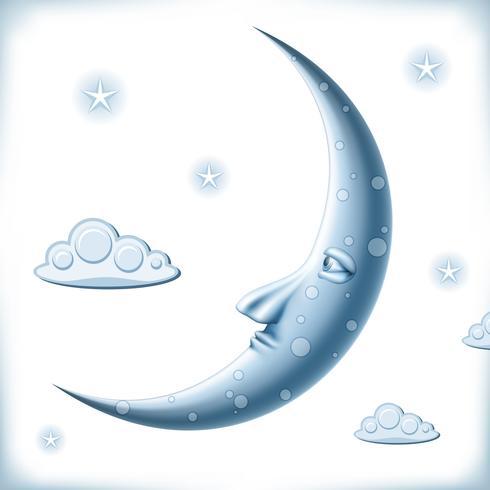 Lune bleue vecteur