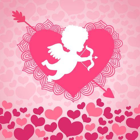 Saint Valentin ange d'amour vecteur