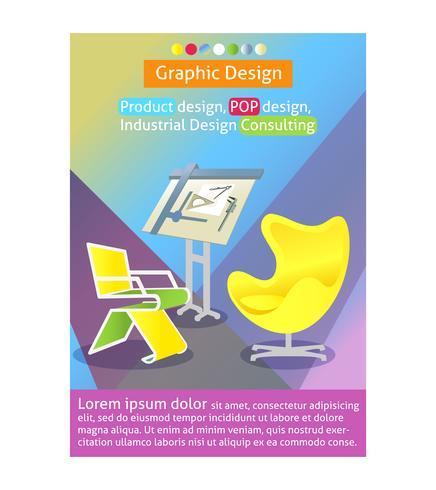 Modello di poster design industriale