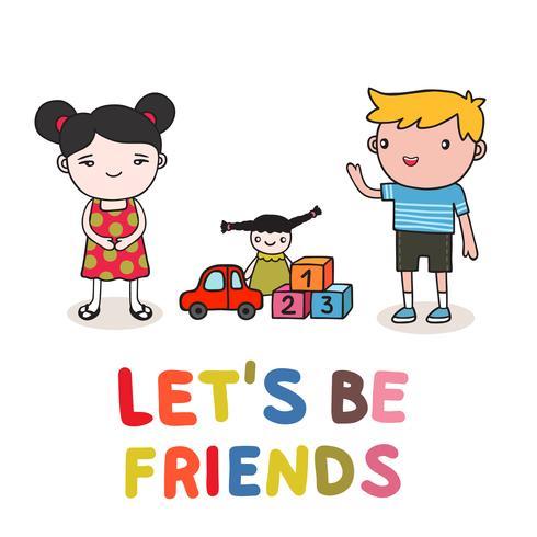 amistad de niños