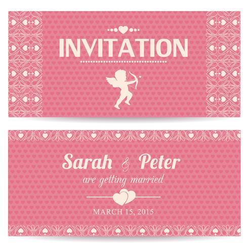 Valentine day romantic invitation card vector