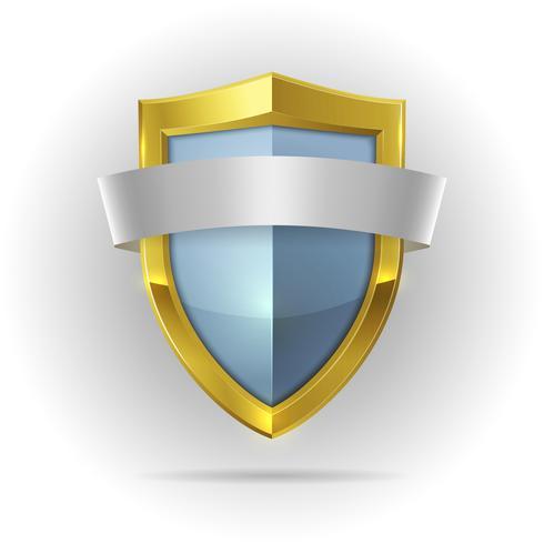 Escudo de la guardia con el emblema de la cinta en blanco