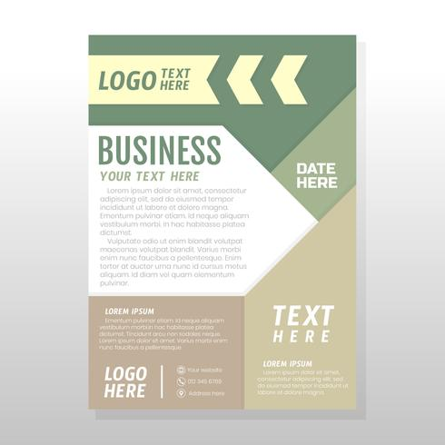 Diseño de folleto de negocios