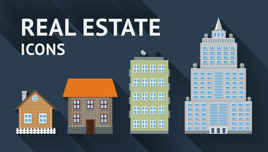 Ensemble d'icônes immobilier