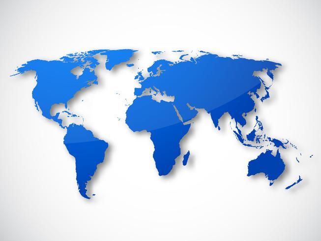 Världskarta isolerad