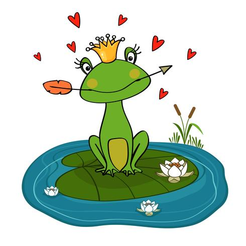 frog princess vector