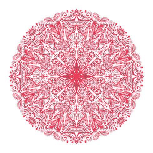padrão redondo ornamental
