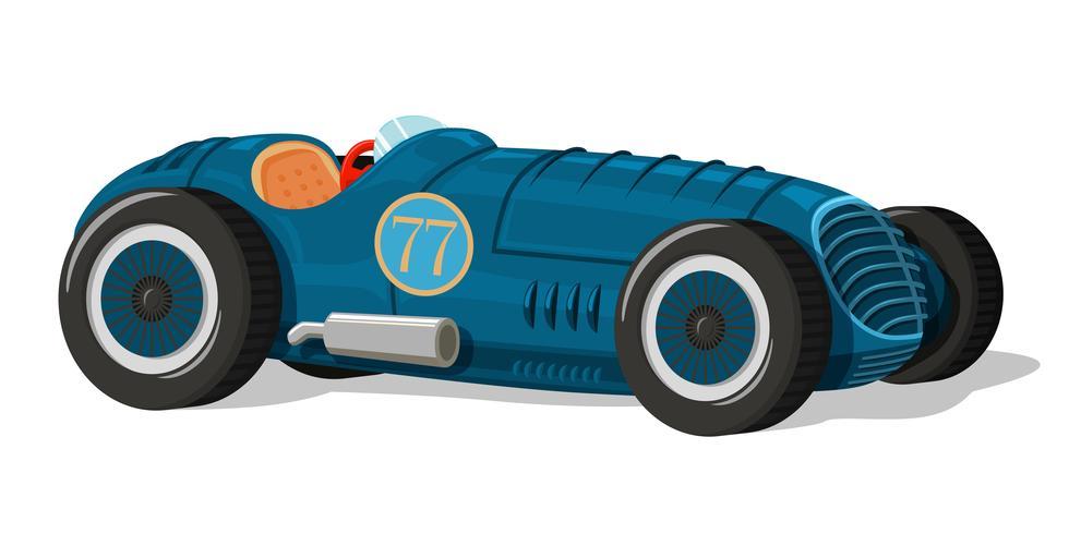 Icône de voiture de course rétro vecteur