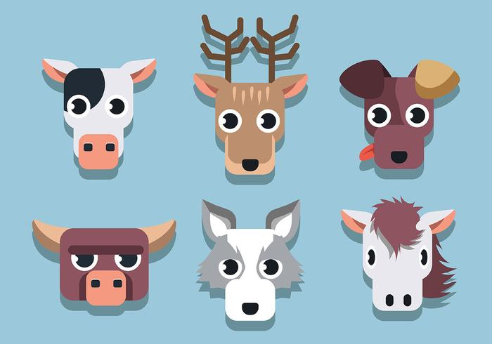 Set di facce di animali