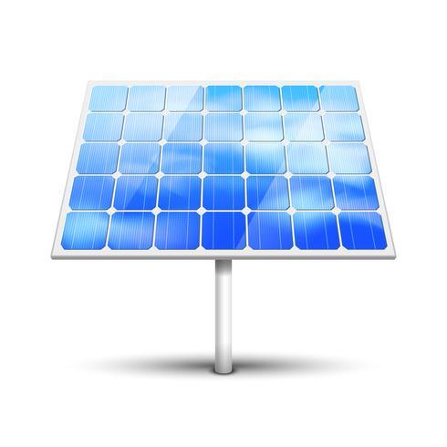 panneau solaire sur blanc