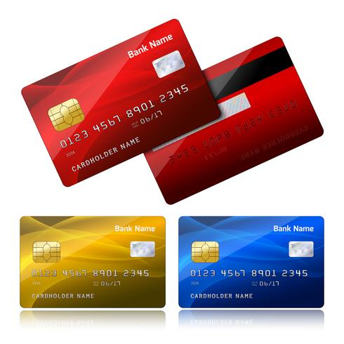 Realistic credit card with security chip