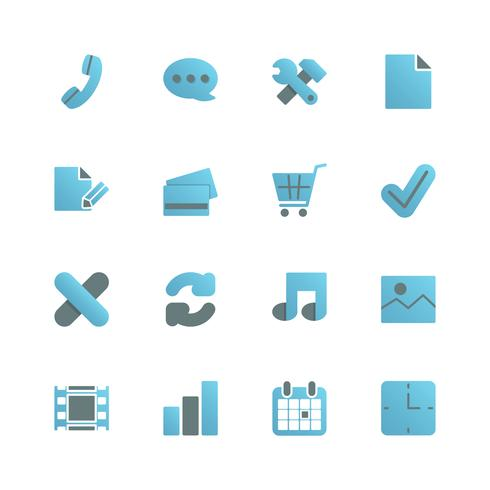 Iconset di e-commerce per il web design