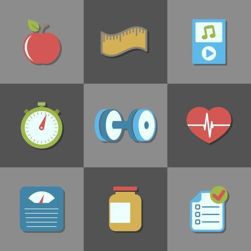Interface-elementen voor fitnesswebsite