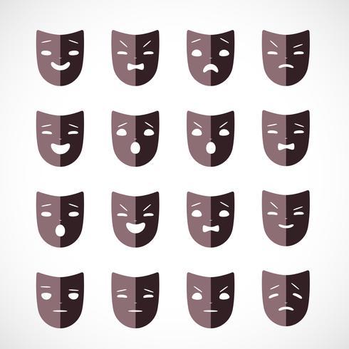 máscara de teatro vector