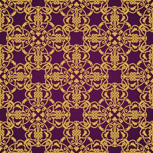 Transparente motif jaune et violet en style arabe ou musulman vecteur