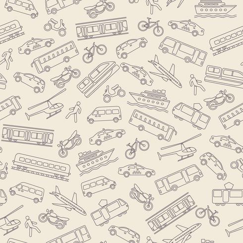 Arrière-plan transparent de transport vecteur