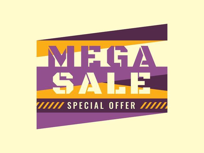 Försäljning typografi mall