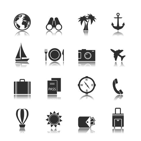 Tourism travel interface elements vector