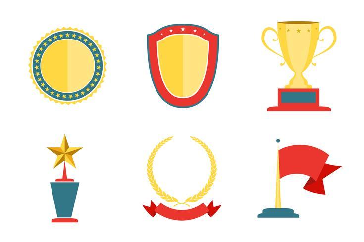 Award badges samling vektor