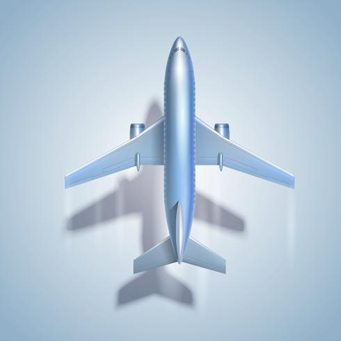 Flygande flygplan symbol vektor