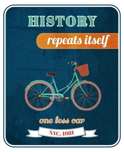 Cartel de promo de bicicleta hipster vector