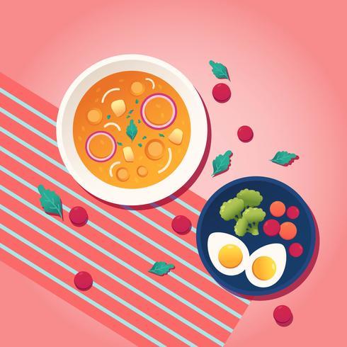 vector de alimentos saludables