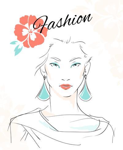 Mode portret van sensuele vrouw